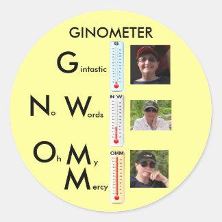 Gemometer 3, OMM, Ginometer Medium, NW, Ginny G... Classic Round Sticker