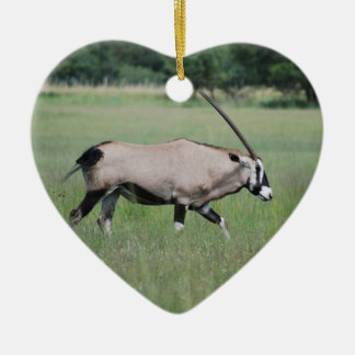 Gemsbok antelope ceramic ornament