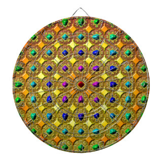 Gemstone background dartboard