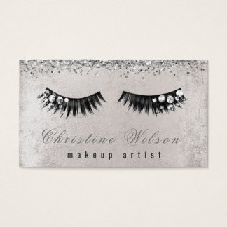 gemstone chic lashes makeup artist business card