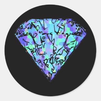 gemstone classic round sticker