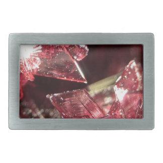 Gemstone Crystal art Rectangular Belt Buckles