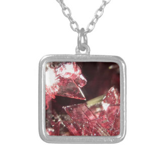 Gemstone Crystal art Silver Plated Necklace