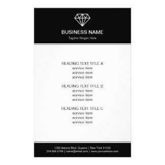 Gemstone Diamond Logo Black White Modern Look Flyer Design