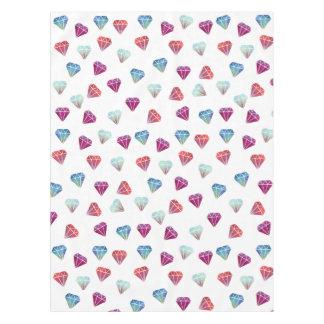 Gemstone geometric tablecloth pink red diamond
