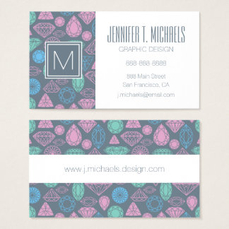 Gemstone Icon Pattern Business Card