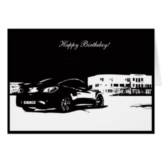 Gen Coupe Rear shot - Car themed Birthday Card