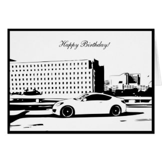 Gen Coupe Rolling shot - Car themed Birthday Card
