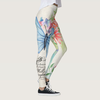 Gen. James Mattis Quote. Watercolor Flowers. Leggings