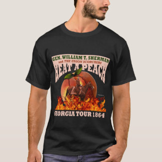 Gen Sherman 'Heat a Peach' Tour 1864 Shirt (Dark)