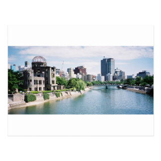 Genbaku Dome for Peace and Hiroshima Skyline Postcard