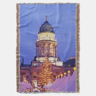 Gendarmenmarkt Christmas Market in Berlin Throw Blanket