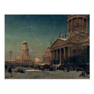 Gendarmenmarkt in Winter, 1857 Postcard
