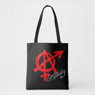 Gender Anarchy classic red symbol, see back side Tote Bag