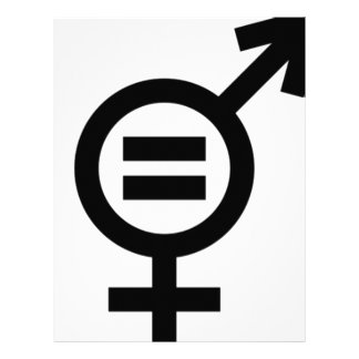 Gender Equality Symbol Letterhead