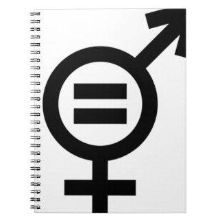 Gender Equality Symbol Spiral Notebook