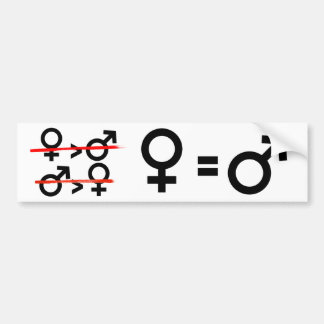Gender Equality - Women are Equal to Men -- Femini Bumper Sticker
