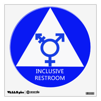 Gender Inclusive Restroom Sign/Decal Wall Decal