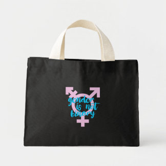 Gender is not Binary - Trans Symbol - -  Mini Tote Bag