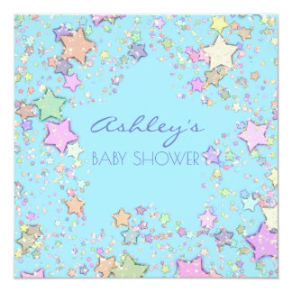 Gender Neutral/Reveal Girl/Boy Baby Shower Stars Card
