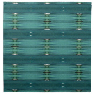 Gender Neutral Shades of Blue Modern Pattern Napkin