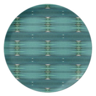 Gender Neutral Shades of Blue Modern Pattern Plate