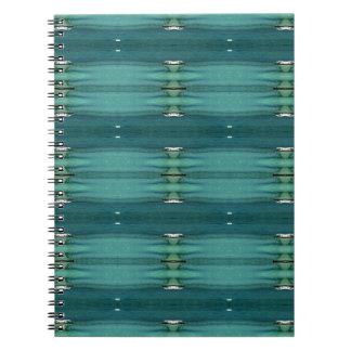 Gender Neutral Shades of Blue Modern Pattern Spiral Notebook