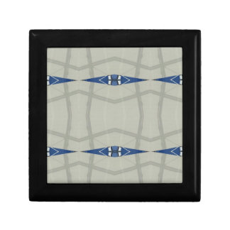 Gender Nuetral Blue Light Gray Pattern Jewelry Boxes