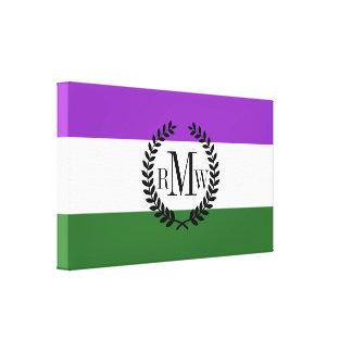 Gender Queer Pride Flag Canvas Print