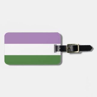 Gender Queer | Pride Flag Design | Stripes | Luggage Tag