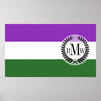 Gender Queer Pride Flag Poster