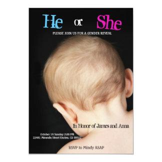 Gender Reveal Baby Back of Head Card