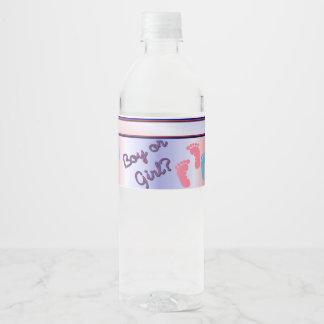 Gender Reveal Baby Shower Water Bottle Labels
