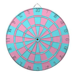 GENDER REVEAL GAMES DARTBOARD WITH DARTS