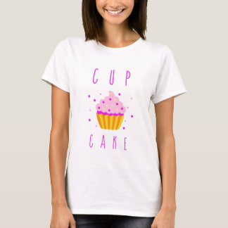 Gender Reveal Party - Cute Pink Girl Cupcake T-Shirt