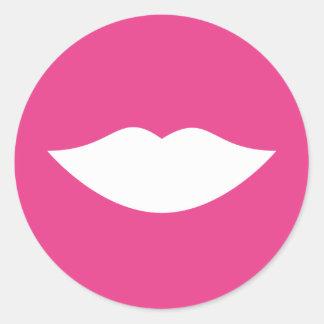 Gender Reveal Pink Lips Sticker