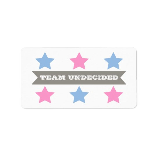 GENDER REVEAL TEAM UNDECIDED LABEL
