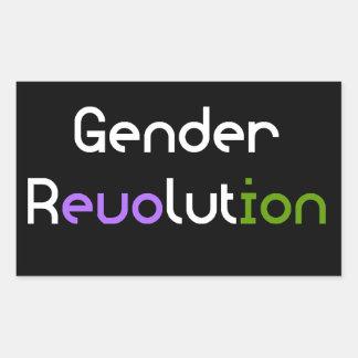 Gender Revolution LGBTQA Genderqueer Non-Binary Sticker