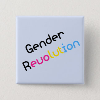Gender Revolution LGBTQA Pansexual Awareness 2 Inch Square Button