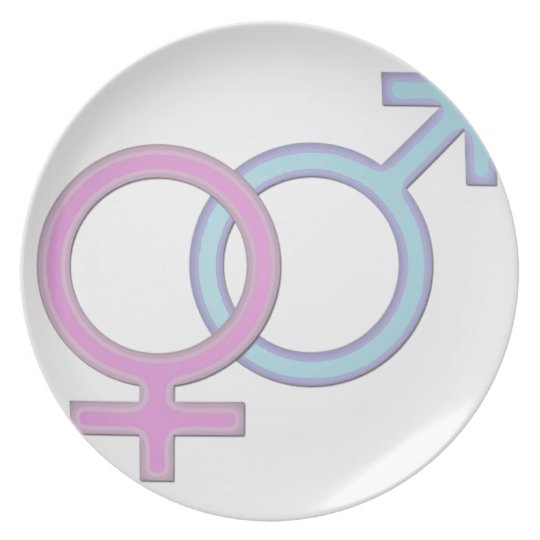 Gender symbol- girl and boy plate