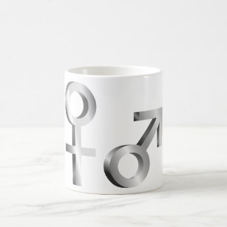 Gender symbols. coffee mug