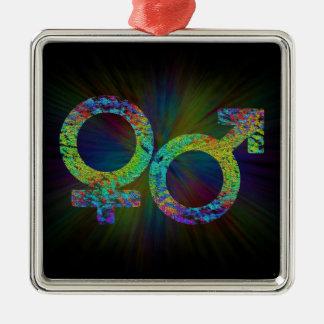 Gender symbols. metal ornament