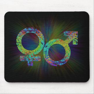 Gender symbols. mouse pad