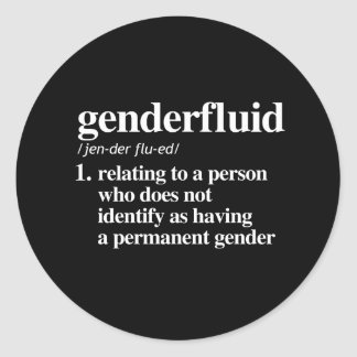 genderfluid definition - defined lgbtq terms - LGB Classic Round Sticker