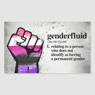 Genderfluid Definition - Defined LGBTQ Terms - Sticker