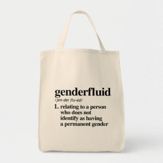 Genderfluid Definition - Defined LGBTQ Terms - Tote Bag
