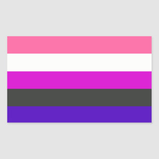 Genderfluid flag sticker