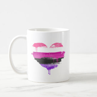 GENDERFLUID HEART - GENDERFLUID LOVE - COFFEE MUG
