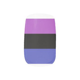 genderfluid nail decals