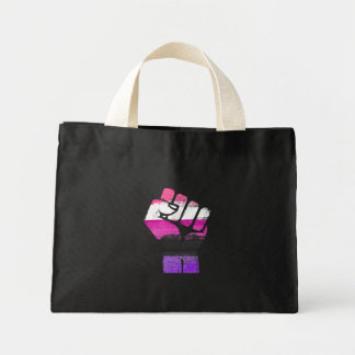 GENDERFLUID RESIST FIST - LGBTQ Vintage Artwork -. Mini Tote Bag